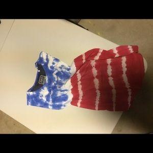 No sleeve American tye dye